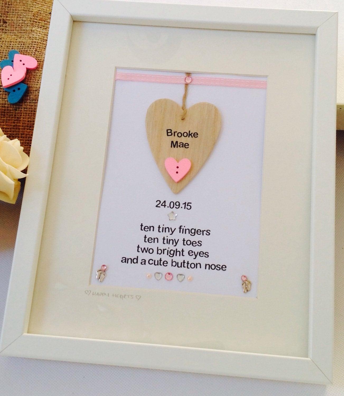 Personalised new baby frame personalised baby poem frame new 3091 jeuxipadfo Choice Image
