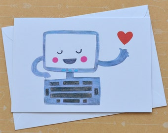 SALE Illustrated Computer Card