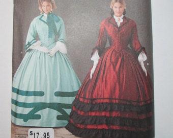 Simplicity 1818 - 1860's Dress pattern * size U5 (16-24)*