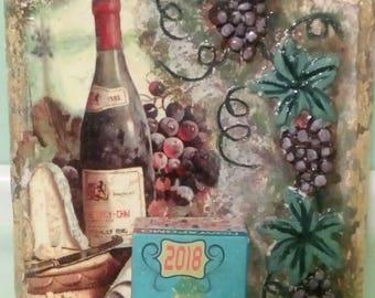 Handmade wall calendar 2018
