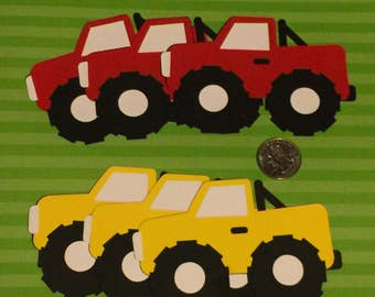 Monster Truck Die Cuts Set of 20 ( You pick the colors)