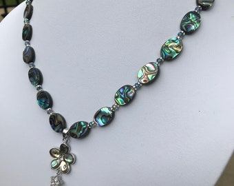 Abalone Shell Necklace with Flower Pendant