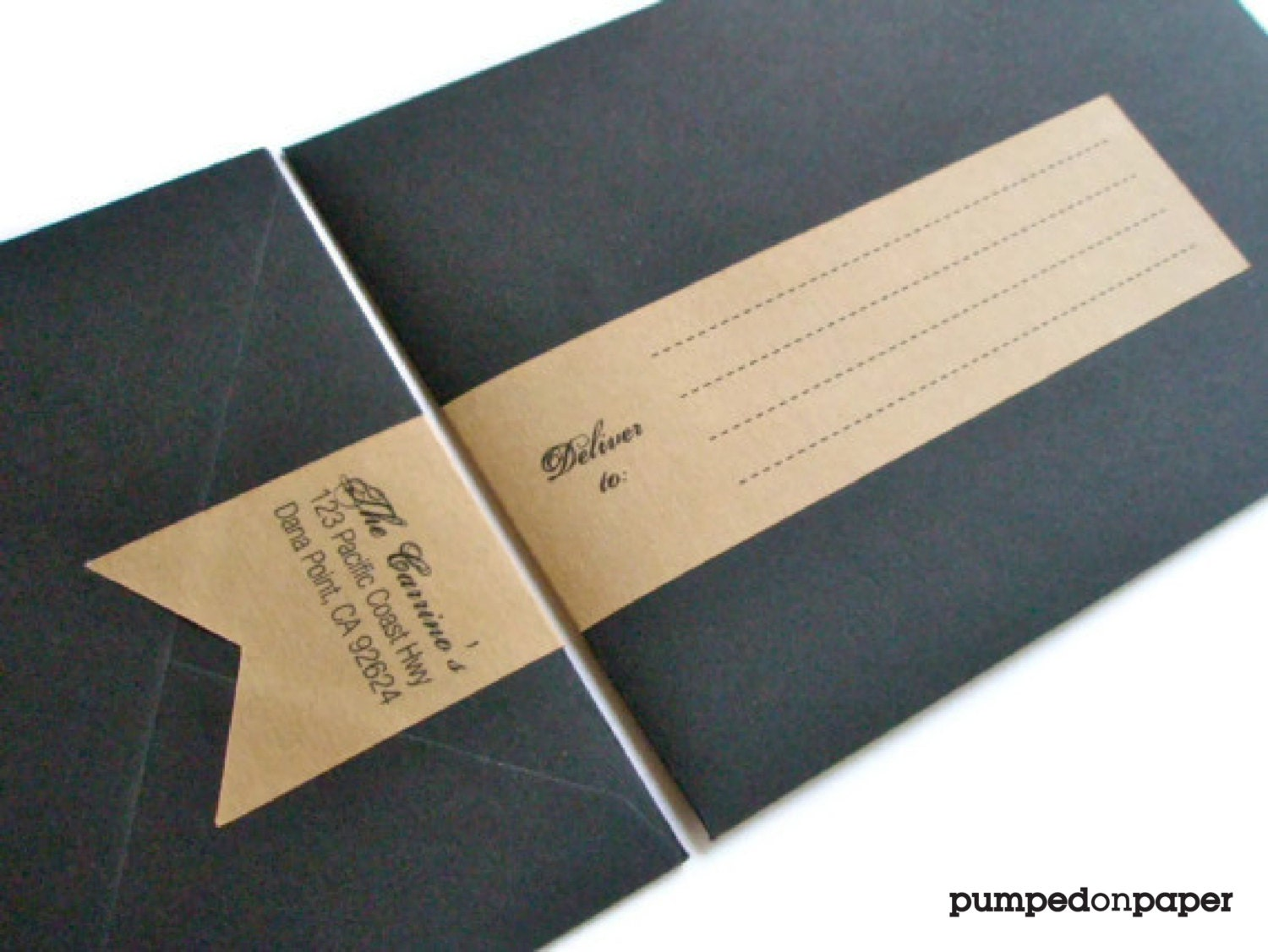 personalized banner wraparound address labels set of 12