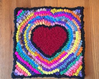 Happy Heart hooked art