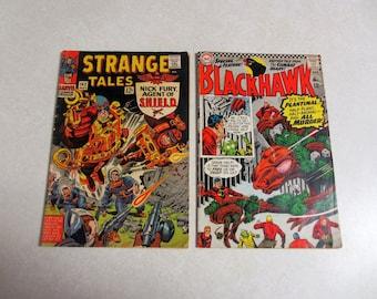 1966 Strange Tales (Marvel) and Blackhawk (DC) Comic Books 1966 Set of Two Comic Books.