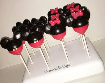 1 Dz. Mickey and Minnie Mouse Cake Pops. Dessert Table. Party Favors. Chocolate. Birthday. Candy Bar. Mickey Mouse. Minnie Mouse