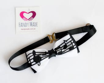 Bow tie music Musical bow tie Bow tie for music lovers Gift for music lovers Bow tie with notes Gift to the musician Gift to the pianist