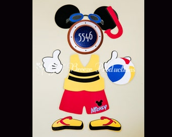 Beach Mickey Mouse Magnet for Disney Cruise Door