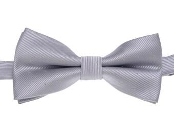 Silver Mens Bowtie.Wedding Silver Bow Tie With Sequin.Mens Bow Tie.Bowtie for Party.Bowtie for wedding.