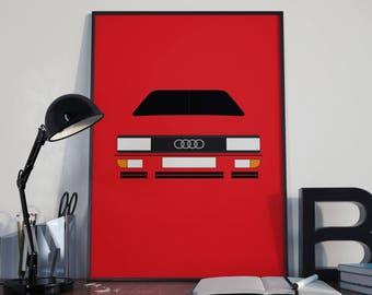Audi UR Quattro Customisable Print and Greeting Card