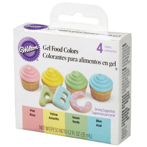 Wilton Gel Food Color Set - Pink Yellow Green Blue Food Colors from ...