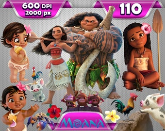 Moana clipart, Moana clip art, moana png, moana princess clipart, disney clipart, cartoon clipart, disney png, moana png, digital download