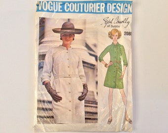 1960s Mod Dress B36 Sewing Pattern : Vogue Couturier Sybil Connolly 2088