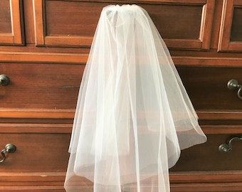 White Veil for Wedding/First Communion