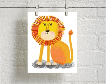 Lion downloadable digital Instant art Print for your home