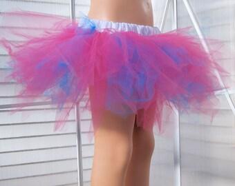Bubblegum Pink and Turquoise Blue Trashy TuTu Skirt Child Size 2-6 MTCoffinz - Ready to Ship