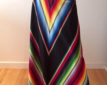 70's colorful maxi skirt