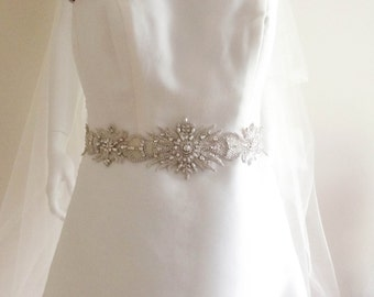 Wedding Couture Sash Belt  - SUN 18 inches (Ready to ship)