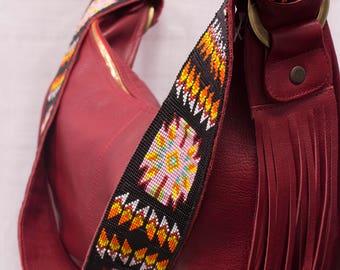 Cristina Orozco Luna Red Handbag