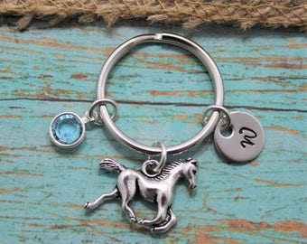 Horse Keychain - Personalized - Horse Lover Gift - Rodeo - Pony Keychain - Custom Horse