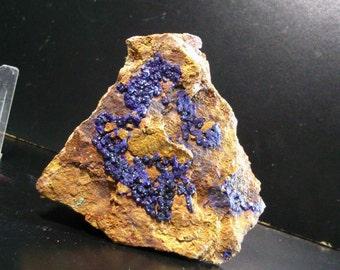 Dark blue azurite pie