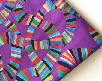 Brandon Mably Roller Coaster Fabric, BM 49 Purple Colorway, Rare, VHTF, OOP