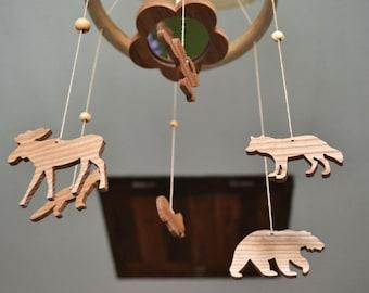 Crib mobile/Cot mobile/Baby mobile/Nursery mobile/Forest Animal