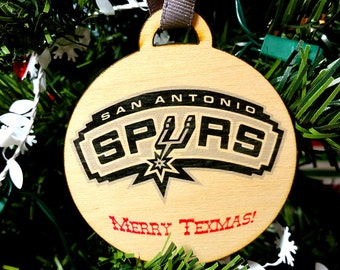 San Antonio Spurs Christmas Ornament / gift tag
