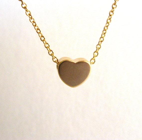 Dainty heart necklace 14k gold filled necklace with little dainty heart necklace 14k gold filled necklace with little heart 14k matt gold plated love necklace minimalist aloadofball Choice Image