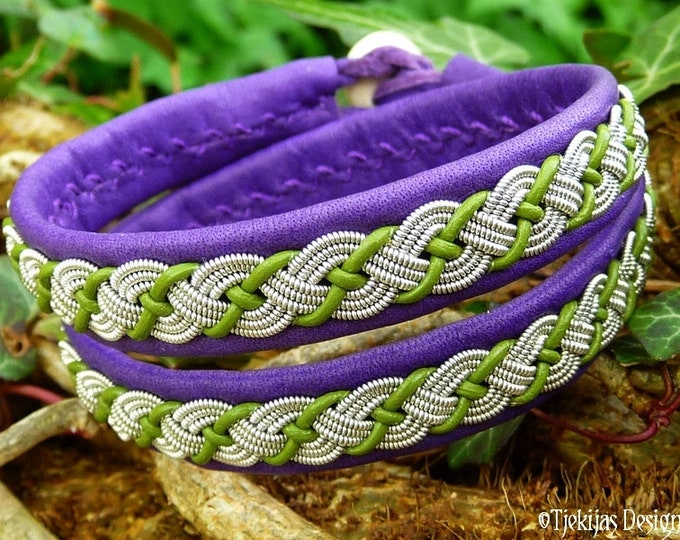Sami Bracelet VALHAL Viking Bracelet, Double Wrap Leather Bracelet