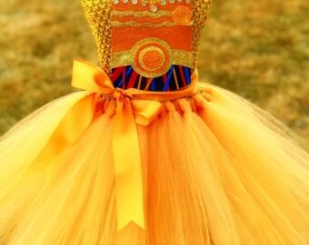 Adult C3PO Tutu Dress