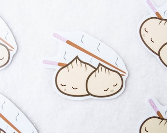 Japanese Dumplings Sticker Kawaii Cute Anime Cartoon Tv Show Asian Cuisine Food Art Drawing Digital Vector Chop Sticks Pot Stickers Buns
