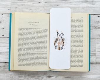 Bunny Bookmark, Small Easter Gift, Paper bookmark, Book Accessory, Unique Bookmark, Animal Bookmark, Bunny Gift, Simple Bookmark, Book Gift