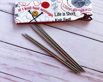 Knitting Chit Chat DPN Cozy - DPN cozy - needle case - dpn case - Knitting Cozy - cozy