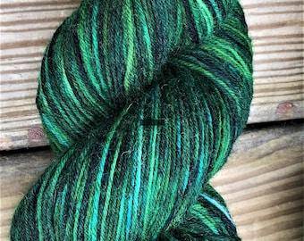 "hand dyed sock yarn - ""Misty Mountains"" - superwash wool"