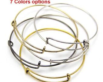 Expandable Bangle Bracelet Adjustable Bracelet Expandable Bangle Bracelet Charm Bracelet Wire Bangles