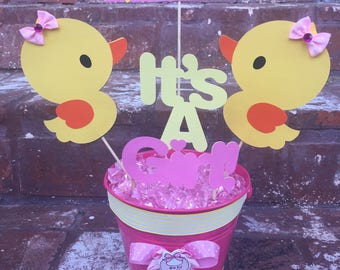 4pc Rubber Ducky Centerpiece