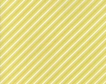 Ella and Ollie - Ticking Stripe in Apple Green : sku 20306-25 cotton quilting fabric by Fig Tree and Co. for Moda Fabrics
