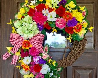 Etsy Wreath   Country Wreath   Front Door Wreath   Summer Wreath   Wreaths on Etsy   Wreaths By Trina