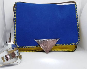 Blue Suede Bag