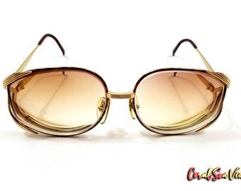 Christian Dior Frames True Vintage 2387 Tortoise Shell Sunglasses Butterfly Glasses Gold Metal Frames OS