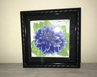 Blue Dahlia Flower