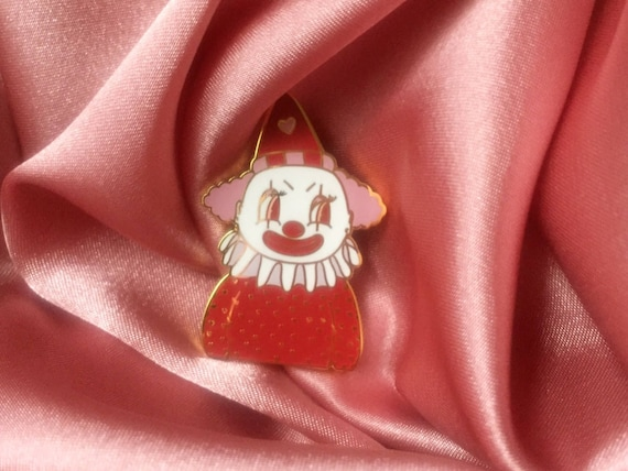 "Poopywise The Clown 1.5"" Enamel Lapel Pin by Etsy"