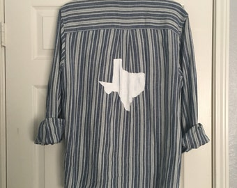 Texas Hand Painted Flannel