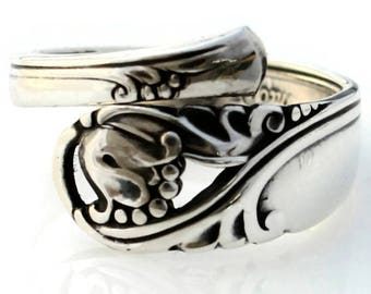 Spoon Ring Sterling Silver Spring Glory by International Silver 1942 Demitasse