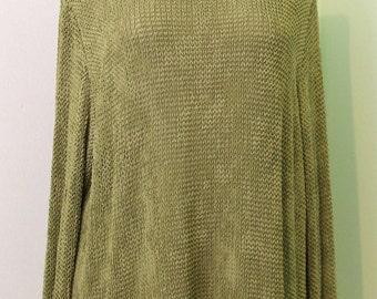 Unique Textured Green Blouse