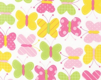 Spring Butterflies FLANNEL Fabric From Robert Kaufman's Urban Zoologie Collection by Ann Kelle