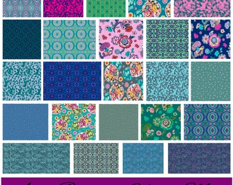 Amy Butler - Night Music - Fat Quarter Bundle, Half Yard Bundle or 1 Yard Bundle