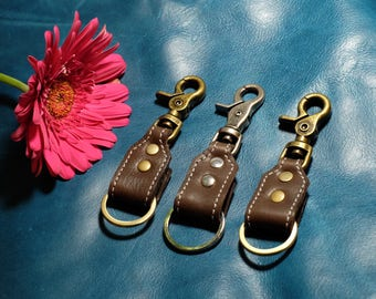 Key Ring Clip - Brown