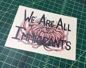 We Are All Immigrants postcard